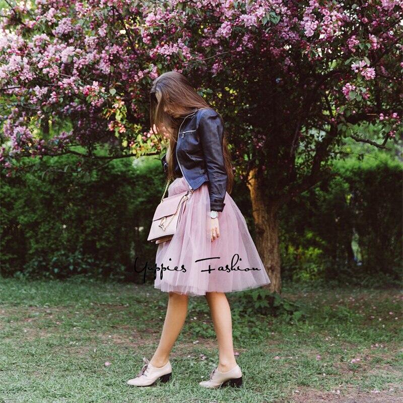 Itao Blogger Empfehlen! Yuppies Mode 7 Schichten 65 cm Lange Tüll Röcke Frauen Adult Tutu Rock Lolita Petticoat 2017 Sommer