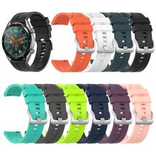 10 colors New Silicone Wrist Strap for Huawei Watch GT Active/Elegant Band Strap for Huawei Honor Magic Smart Watch Bracelet ban(China)