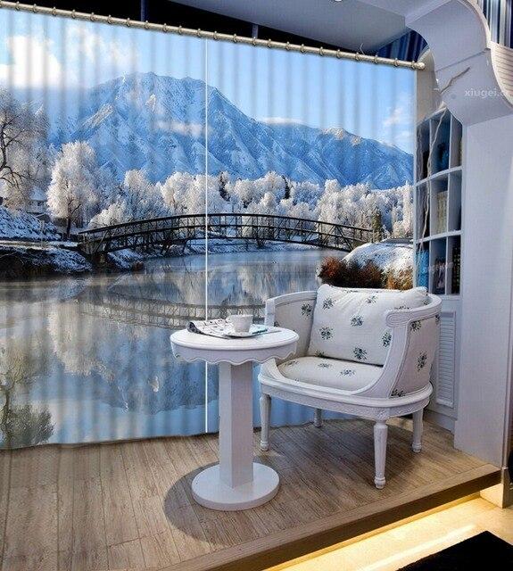 US $94.0 53% di SCONTO|3d Finestra Tende Per Il Salone Europeo Moderno  natura paesaggio 3d tenda camera da letto moderna tende camera da letto di  casa ...