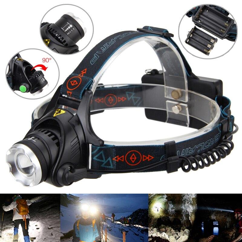 Zoomable 6000LM XM-L T6 LED Headlamp Focus Headlight Fishing Torch Gun Light 18650/AA Lamp