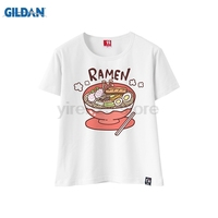 GILDAN Japanese Style Wowomen's T shirt Summer Fashion Tshirt Japan Sushi Print Round Neck Short Sleeve Tee Shirt Top Tees