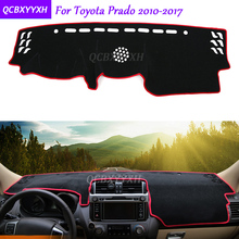 For Toyota Prado 2010-2017 Dashboard Mat Protective Interior Photophobism Pad Shade Cushion Car Styling Auto Accessories