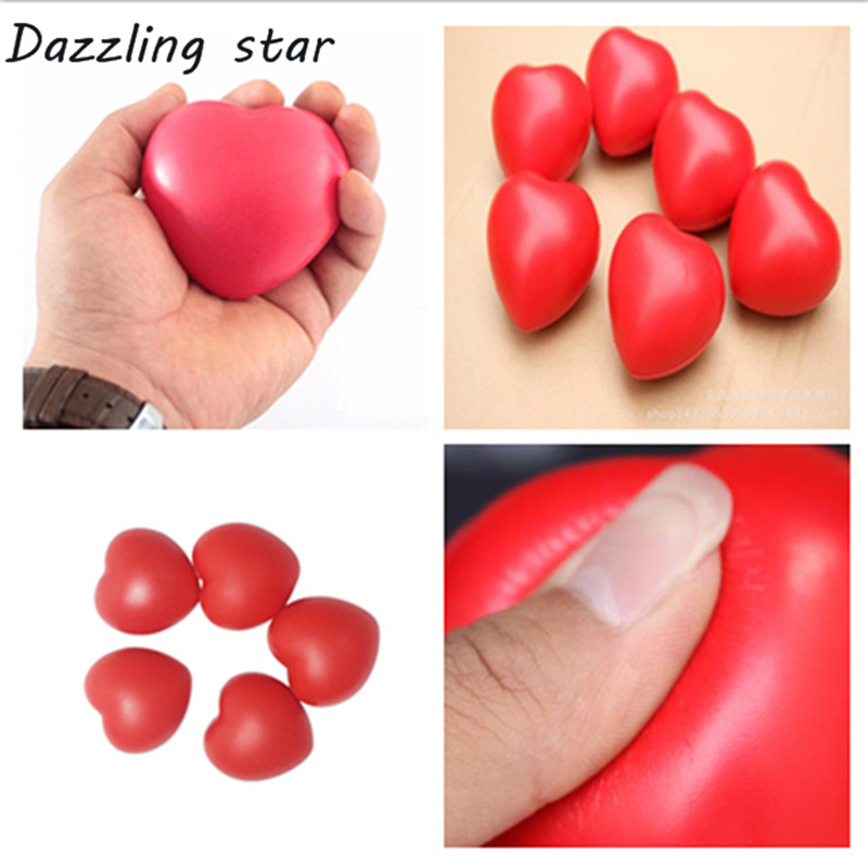 Funny Soft Anti Stress Ball Toys Squeeze Heart Ball Stress Pressure Relief Relax Novelty Fun Valentine's Day Gifts Vent Gag Toy