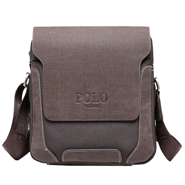 Luxury design casual men's leather Shoulder Bag men travel bags POLO famous brand male messenger bags Man Crossbody Bags
