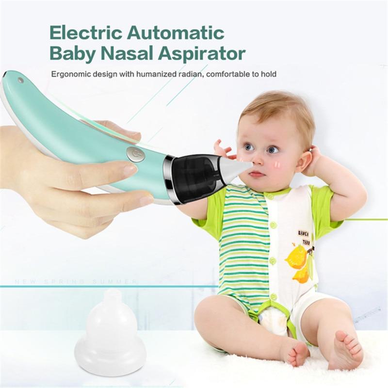 Bebé aspirador Nasal eléctrico seguro higiénico nariz limpiador con 2 tamaños de la nariz y consejos Oral mocos tonto para recién nacidos niño niñas