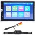 Player do carro 7 polegada HD 1080 P Touchscreen Double-DIN MP5/MP4 Player carro Receptor de Rádio FM + Bluetooth 1/3 Polegadas de cor CMOS câmera