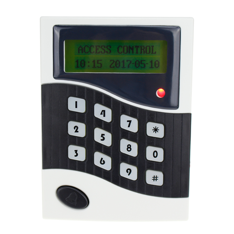 RFID keypad with LCD screen single door access controller 125KHz/13.56MHz card reader smart password lock for security system good quality smart rfid card door access control reader touch waterproof keypad 125khz id card single door access controller
