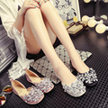 DreamShining New Crystal Rhinestones Singles Shoes Peas Shoes Flat Heel Casual Flat Shoes Comfortable Driving Women Size 35-40