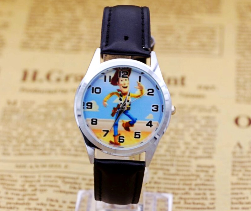 Hot Sale Toy Story BOYS Cartoon Watch Fashion Lovely Girl Children Watches PU Strap Quartz Wristwatch Kids Dress Clock