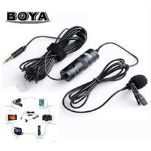Boya m1/m1dm pro lavalier 마이크 3.5mm microfone for iphone 스마트 폰 canon nikon dslr vs boya m1 카메라 비디오 마이크 recor