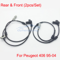 2pcs/ Set New for Peugeot 406 Front  and Rear ABS Wheel Speed Sensor 454548 96183217 96252846 96272628 2P L=1140MM Free Shipping