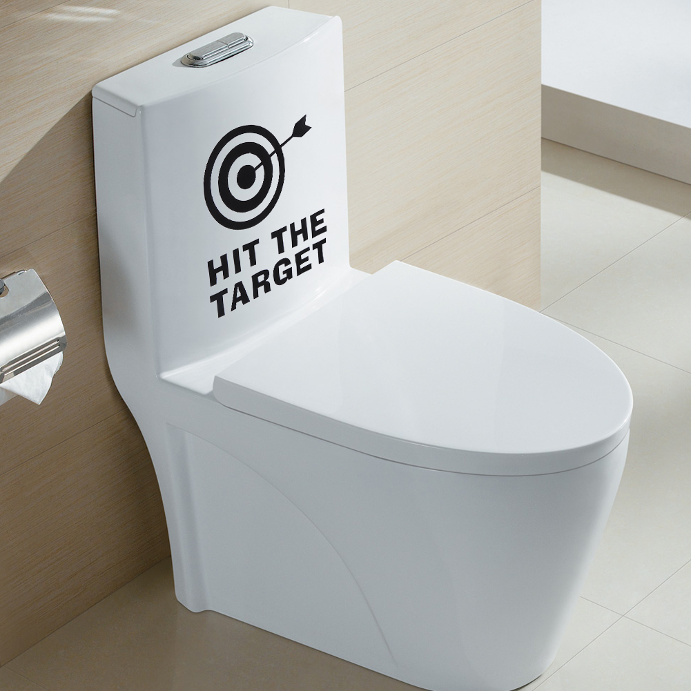 Hit The Target Toilet Waterproof Wall Stickers Toilet Seat Removable Decal DIY Poster Stickers Home Decoration Accessories E5M1