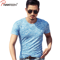 Phanteen Summer Short Sleeve Man T shirts Camouflage Slim Fit Elasric Casual T-shirts Breathable Outerwear Street Fashion Tee