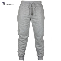 FLYMALL Trousers Men Hip Hop Sweatpants Warm Thick Mens Pants For Winter Bodyboulding Fitness Joggers 2017