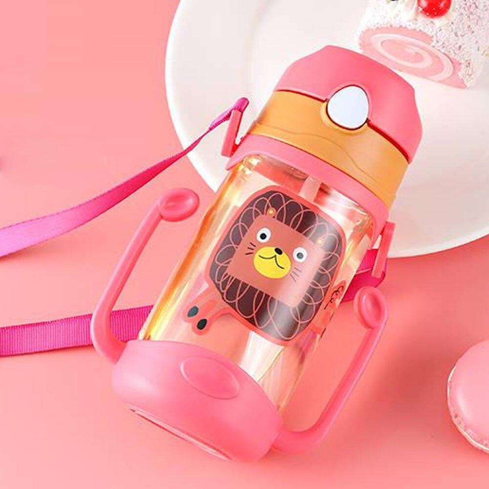 Картонная бутылка Детские чашки Детская кружка для воды девичий здоровый BPA бесплатно мультфильм молоко легко носить с собой кофе герметичность милые бутылки - Цвет: Red