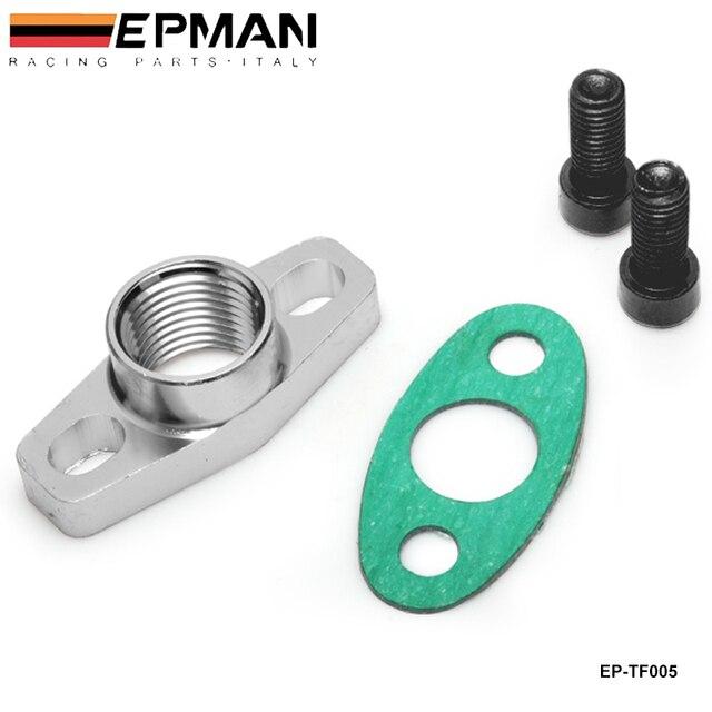 Turbo Oil Return/Drain Flange Adapter Female an10 1/2NPNT Garrett GT28 GT30 GT35 T25 EP-TF005