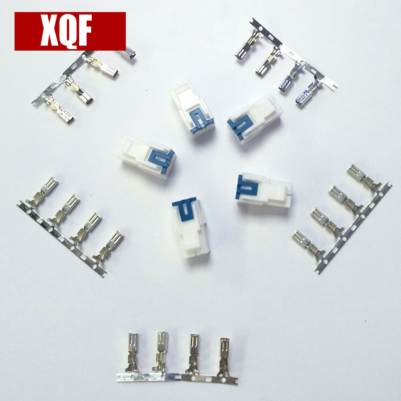 XQF 5PCS 4pin Power Connector Cable For ICOM IC-7000IC-7600 FT-450 TS-480 Two Way Radio