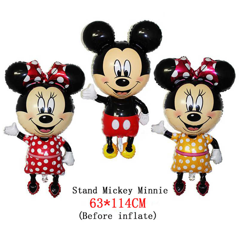 1ピースミッキーマウスミニーヘッド箔バルーン子供の誕生日パーティーの装飾ベビーシャワー用品インフレータブルミッチnemini風船