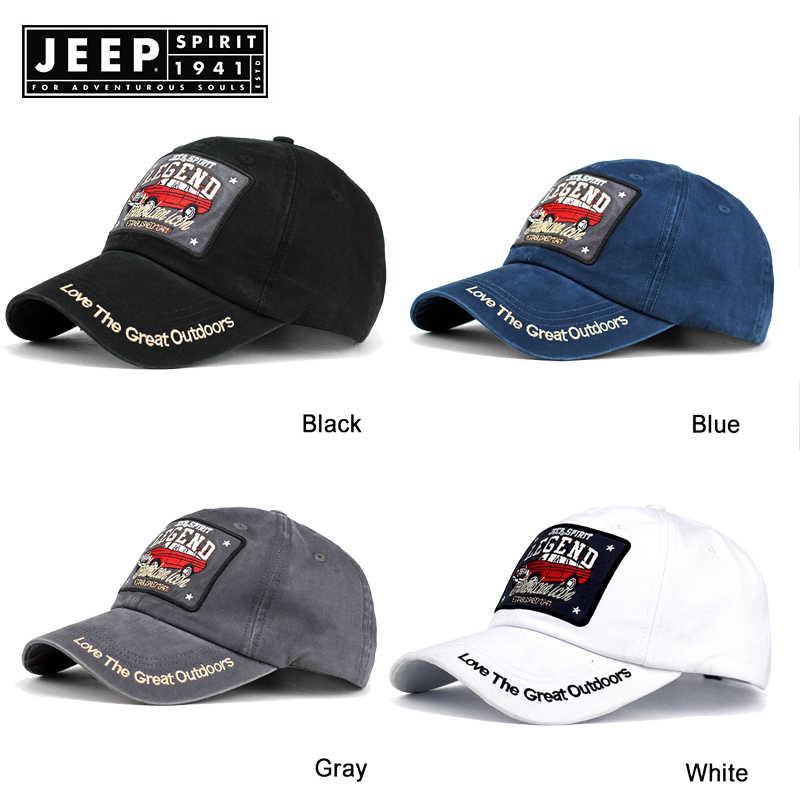 118e9bfd4e5 ... JEEP SPIRIT Sport Men Baseball Cap Dad Casquette Women Fashion Snapback  Hip Hop Cap Washed Cotton ...
