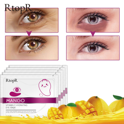 RtopR 30 Pairs Green Algae Collagen Eye Mask for Face Anti Wrinkle Gel Sleep Gold Mask Eye Patches Under The Eye Bags TSLM2 Islamabad