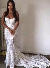 White Party Kleid Lange Schatz Appliques Nixe Spitze Prom Kleider