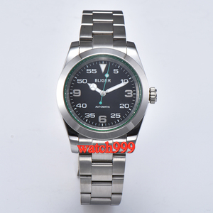 Image 1 - 40mm BLIGER Luminous Mechanical men watch Sapphire crystal  black dial Automatic mens Watch