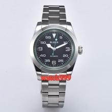 40mm bliger luminous 기계식 남성용 시계 사파이어 크리스탈 블랙 다이얼 자동식 남성용 시계