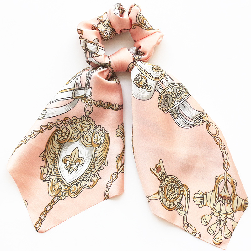 Vintage   Headwear   DIY Bow Streamers Women Turban Hair Scrunchies Ribbon Hair Ties for Girls Head Wrap Hair Accessories