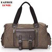 Hohe Qualität Leinwand Gepäck Tasche Große Kapazität Reisetasche Männer Schulter Handtasche Crossbody Travel Duffel Taschen Frauen Duffle Handtasche
