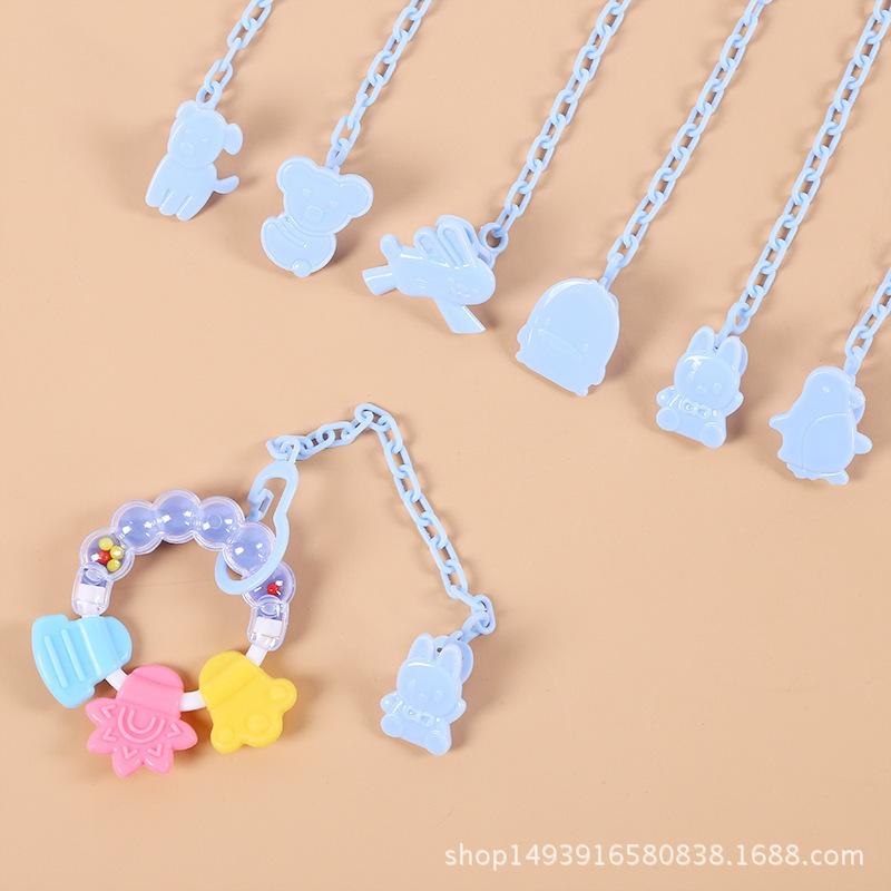 Plastic Appease Nipple Chain Tooth Glue Chain Nipple Chain Clip Nipple Chain Baby Silica Gel Nipple Parts Cheap Stuff Gift