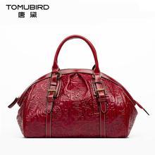 Genuine leather bag free delivery Women bag Chinese wind retro hand bag Ethnic original embossed handbag