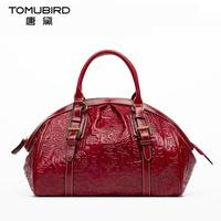 Genuine Leather Bag Free Delivery Women Bag Chinese Wind Retro Hand Bag Ethnic Original Embossed Handbag
