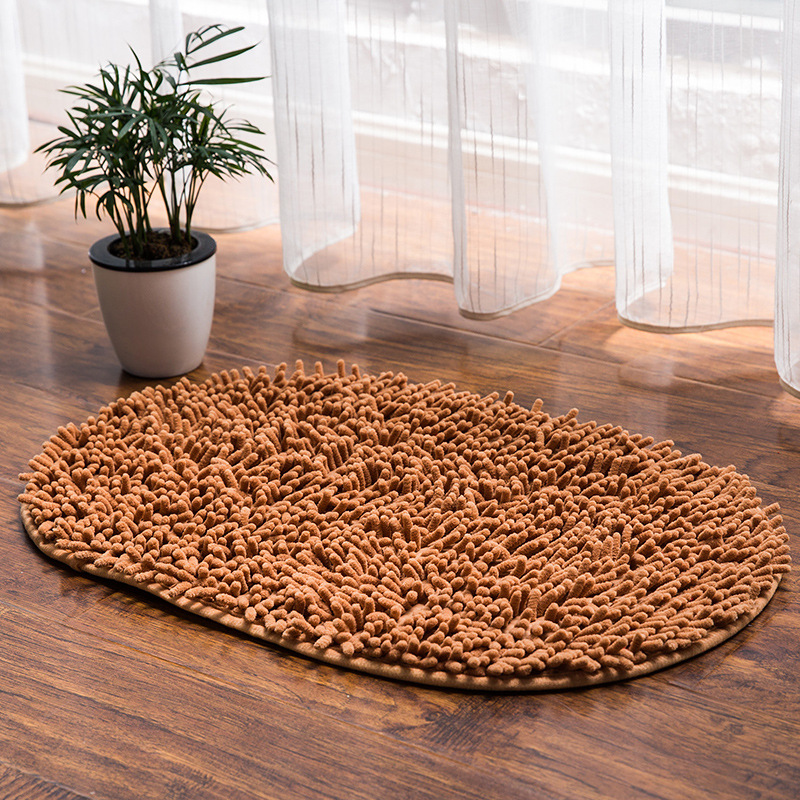 Super Water Absorbent Bathroom Carpet Non Slip Kitchen Bath Mat Oval Bathroom  Rug For Toilet