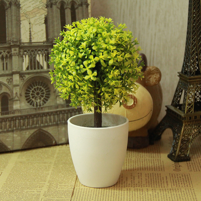 artificial topiary tree & ball plants in pot colorful fake flower