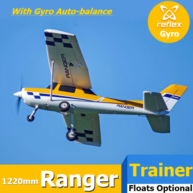 FMS RC Airplane Plane 1220mm Ranger Trainer 4CH 3S PNP with Reflex Gyro Flight Controller Autobalance