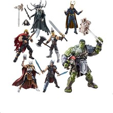 6 pçs/set Onda Ragnarok Gladiador Thor Hulk Marvel Legends BAF 6 Hela Figurals Toy Action Figure Brinquedos Modelo Presente(China)