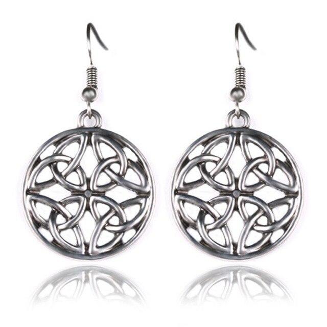 Jephne Fantastic Metal Celtic Knot Drop Dangle Earrings Vintage Geometric Elegant Leisure Design