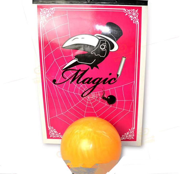 Free shipping Bowling Ball From Drawing Board - Magic trick, close-up,stage magic props,Accessories,Illusion,Fun,Party Trick sponge ball disappear magic trick tutorial