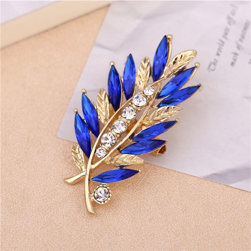 1 Pcs Flower rhinestone Red Blue Glass brooches for women fashion rhinestone brooch for wedding pins and brooches for women in Brooches from Jewelry Accessories