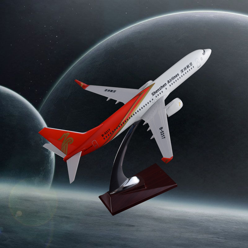 32cm Resin Aircraft Model B737 Shenzhen Airlines Aviation Model Boeing 737 Airplane Manufacturer Creative Gift Wholesale bbox200 1 200 american frontier airlines boeing 737 200 aircraft model n1pc alloy collection model
