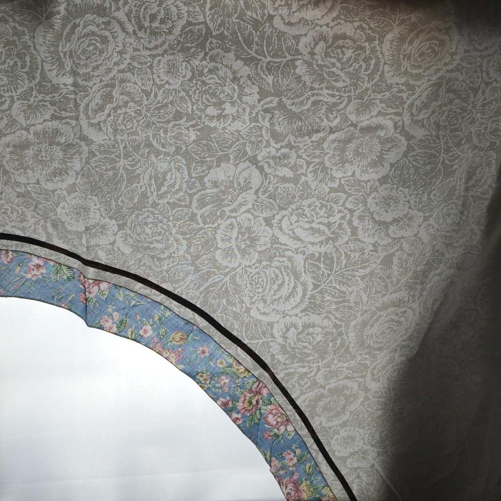 Grado superior cortinas cenefa swag de Arco Exquisito Jacquard para ...