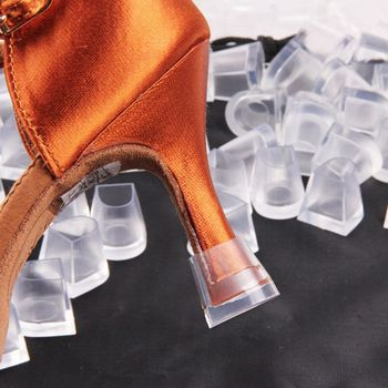 1pair Women High Heel Protectors Anti-slip PVC Latin Stiletto Dancing Covers Dance Shoes Heel Covers Stoppers Shoe Accessories 3 pairs high heel protector suit latin american dances stiletto dance shoe cover against sliding heel protective plugs noiseless