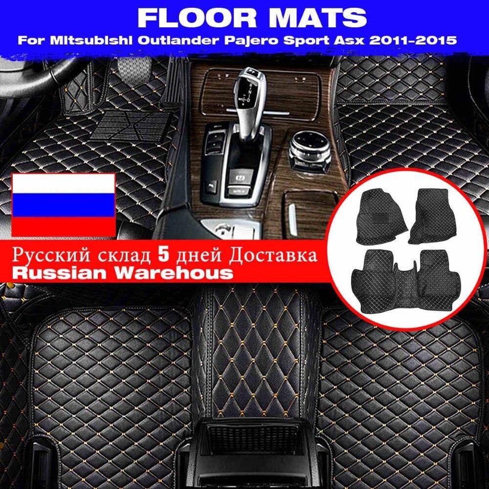 Tapis de sol imperméables pour Mitsubishi Outlander Pajero Sport Asx 2011 2012 2013 2014 2015 accessoires de voiture tapis de sol