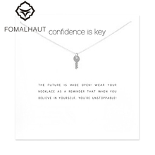Sparkling Key Pendant necklace Key Fashion Clavicle Chains Statement Necklace For Women FOMALHAUT Jewelry 10