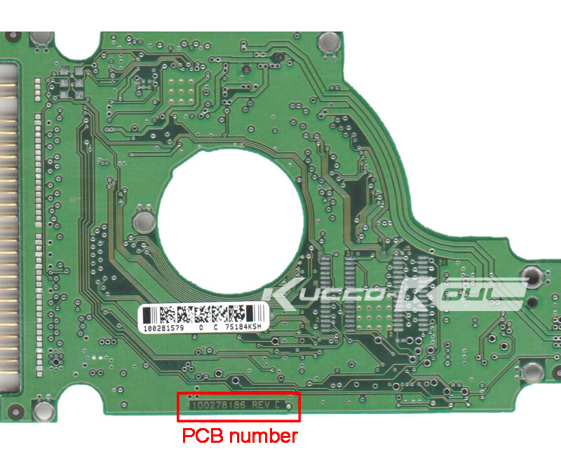 hard drive parts PCB logic board printed circuit board 100278186 for Seagate 2.5 IDE/PATA hdd data recovery hard drive repair