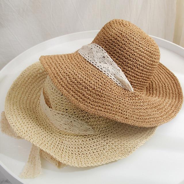 New Sun Hats For Women Straw Hat Summer Travel Beach All-match Travel Cap New Sun Hat