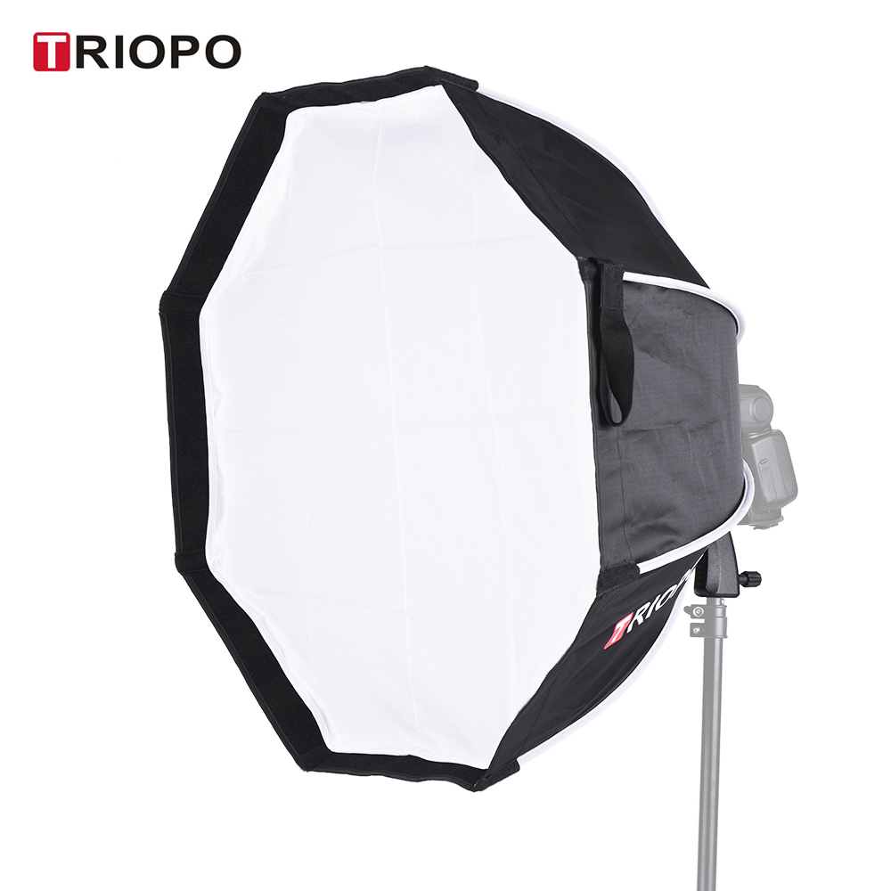 2018 TRIOPO 65cm Foldable 8 Pole Octagon Softbox with Soft Cloth Handle for Godox Yongnuo Andoer