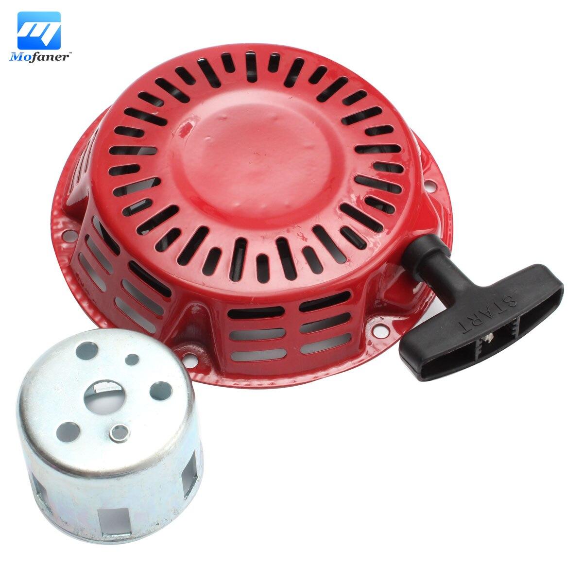 1 set Recoil Starter Cup Assembly Red Pull Start For Honda GX120 GX160 GX200 Engine g200 recoil starter for honda g150 gv150 gv200 4hp 6 5hp steel ratchet rewind pull start handle rope assembly
