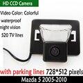Auto Sistema de Estacionamento retrovisor Do Carro HD Câmera 170 Carro À Prova de água Câmera de Visão traseira Do Reverso Do Carro Câmera Frontal para Mazda 5 2005-2010