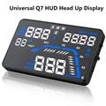 "Universal Q7 5.5"" Car HUD Head Up Display Speedometers Car Overspeed GPS Warning Dashboard Windshield Projector Reflective Film"
